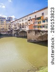bridge ponte vecchio over arno... | Shutterstock . vector #280153823