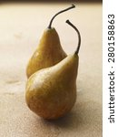 Pears On Wood Table