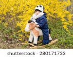 little boy in dandelion field | Shutterstock . vector #280171733