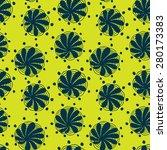 floral green seamless texture.... | Shutterstock .eps vector #280173383