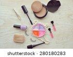 makeup eyeliner brush with... | Shutterstock . vector #280180283
