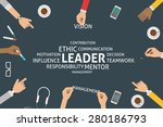 vector leader concept  template   Shutterstock .eps vector #280186793