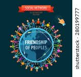 friendship of peoples vector... | Shutterstock .eps vector #280199777