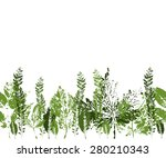 seamless pattern with prints of ... | Shutterstock .eps vector #280210343