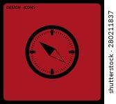 compass . icon. vector design....