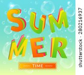 summer time background with... | Shutterstock .eps vector #280216937
