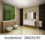 3d rendering of the bathroom in ... | Shutterstock . vector #280251707