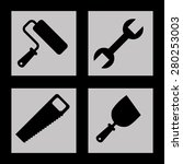 construction icons design ... | Shutterstock .eps vector #280253003