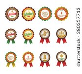 set of gluten free labels on a... | Shutterstock .eps vector #280257713