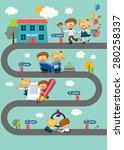 school vector | Shutterstock .eps vector #280258337