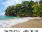 tropical beach with beautiful...