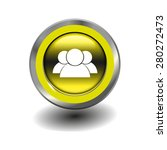 yellow glossy button with... | Shutterstock .eps vector #280272473