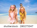 beautiful family during summer... | Shutterstock . vector #280275347