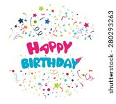 colorful birthday background  | Shutterstock . vector #280293263