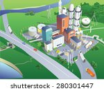 refinery view from the bird's... | Shutterstock .eps vector #280301447