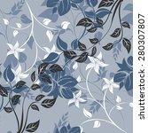 seamples vector pattern flower  | Shutterstock .eps vector #280307807