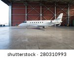 business jet airplane is in... | Shutterstock . vector #280310993