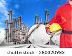 engineer holding hard hat for... | Shutterstock . vector #280320983