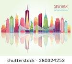 New York Skyline. Vector...