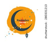 ramadan kareem mubarak vector... | Shutterstock .eps vector #280331213