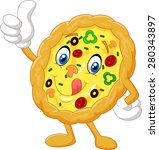 pizza give thumb up | Shutterstock . vector #280343897