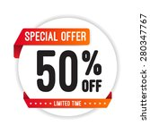 special offer 50  off round... | Shutterstock .eps vector #280347767