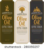 set of labels for olive oils | Shutterstock .eps vector #280350257