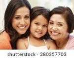 3 generations hispanic women | Shutterstock . vector #280357703