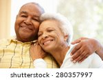 senior african american couple... | Shutterstock . vector #280357997