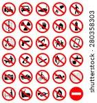 prohibition symbol set | Shutterstock .eps vector #280358303