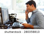 man working in home office | Shutterstock . vector #280358813