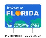 welcome to florida | Shutterstock .eps vector #280360727