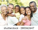 multi generation african... | Shutterstock . vector #280362647