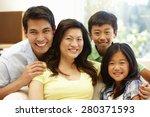 asian family portrait | Shutterstock . vector #280371593