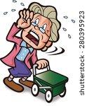 close call of the elderly | Shutterstock .eps vector #280395923