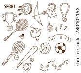 sport sketch vector collection. | Shutterstock .eps vector #280402193
