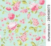 seamless flower pattern for... | Shutterstock .eps vector #280408073