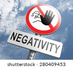no pessimism stop negativity... | Shutterstock . vector #280409453