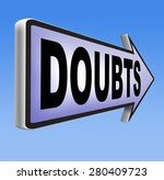 doubts doubting being uncertain ... | Shutterstock . vector #280409723