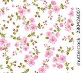 spring flowers pattern over... | Shutterstock .eps vector #280426007