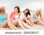 summer holidays and vacation... | Shutterstock . vector #280428017