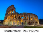 the colosseum in rome | Shutterstock . vector #280442093