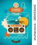 funny summer poster. vector... | Shutterstock .eps vector #280453643