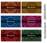 set of six business cards.... | Shutterstock .eps vector #280454093