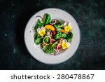 colorful summer salad with... | Shutterstock . vector #280478867