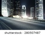 highway and city at night | Shutterstock . vector #280507487