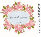 invitation card with floral... | Shutterstock .eps vector #280514597