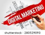digital marketing word cloud ...   Shutterstock . vector #280529093