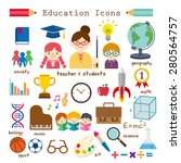 education icon set | Shutterstock .eps vector #280564757