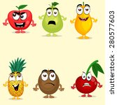 funny fruit characters like... | Shutterstock .eps vector #280577603